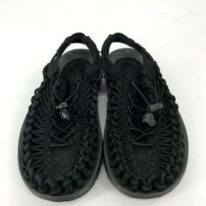 Keen Uneek Women Black Sandal Shoes Size 5M